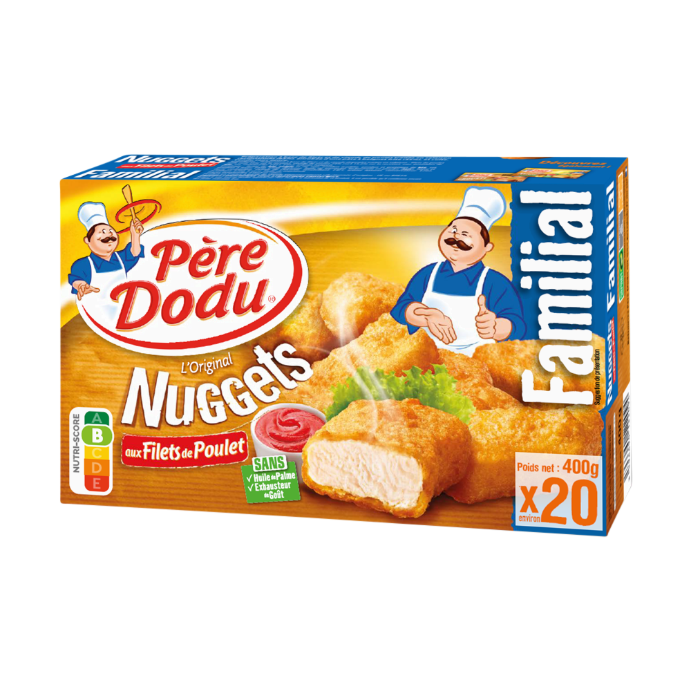 Nuggets aux filets de poulet, Père Dodu (x 20, 400 g)