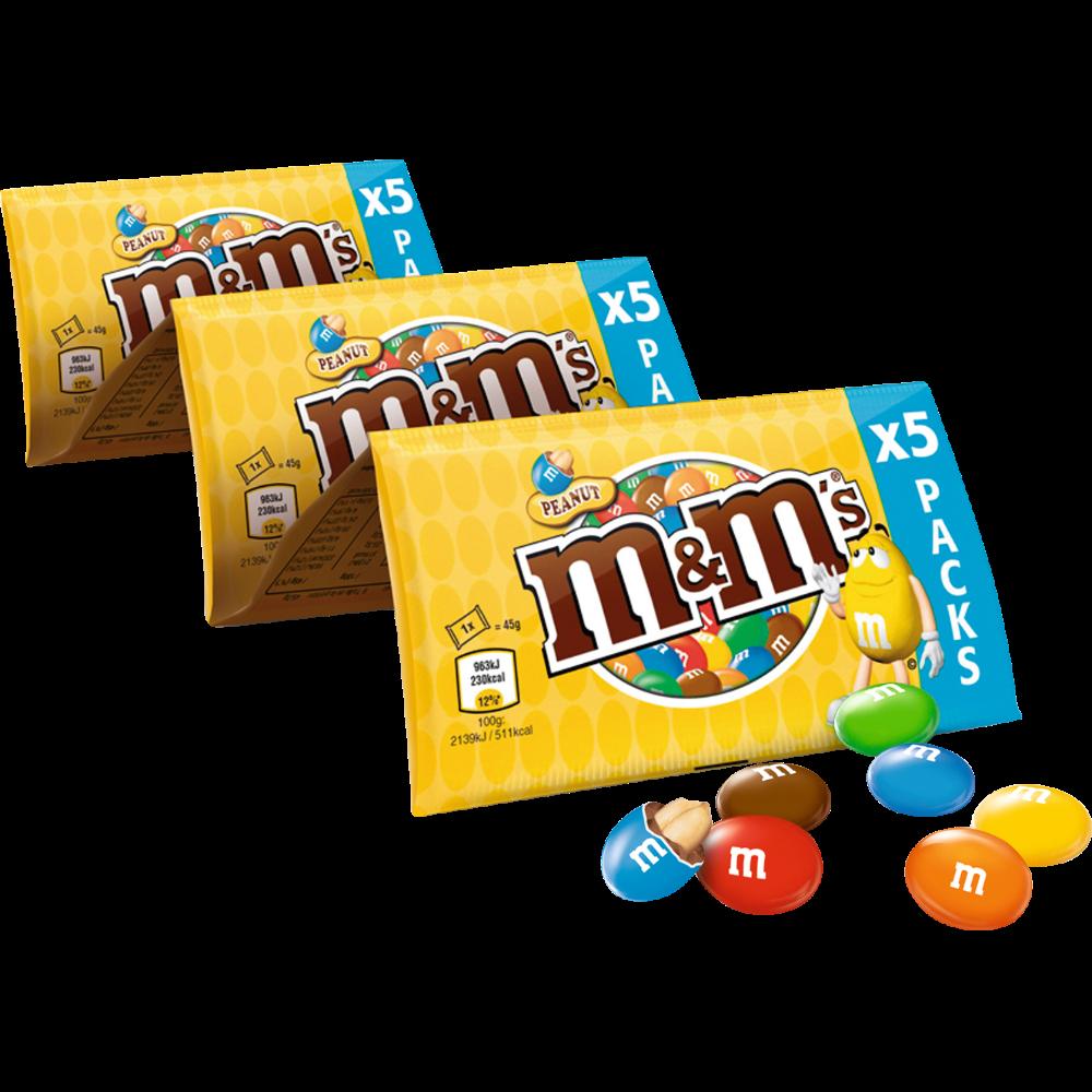 M&M'S peanut chapelet (x 5 paquets, 225 g)