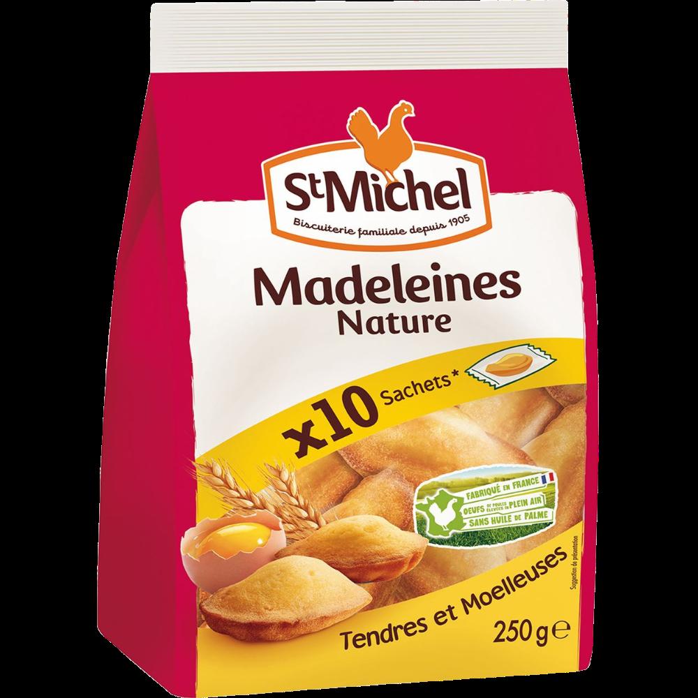 Madeleines nature, St Michel (x 10 sachets, 250 g)