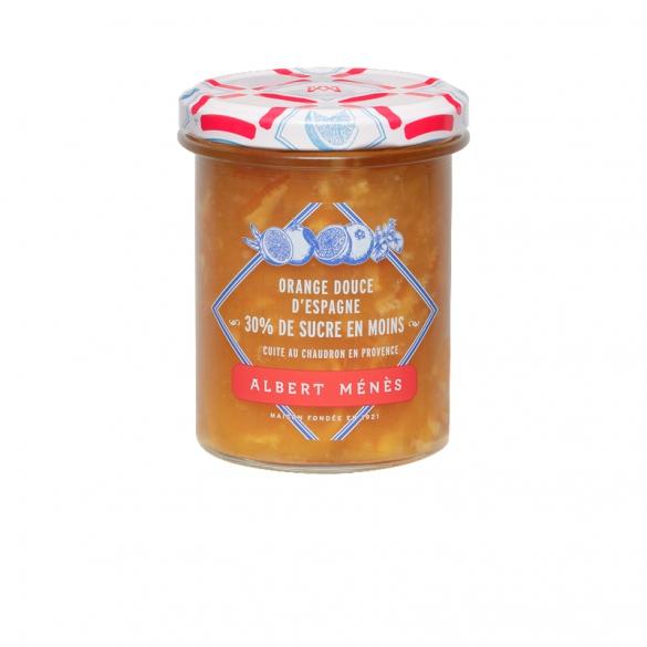 Marmelade Allégée d'Orange Douce d'Espagne, Albert Ménès (265 g)