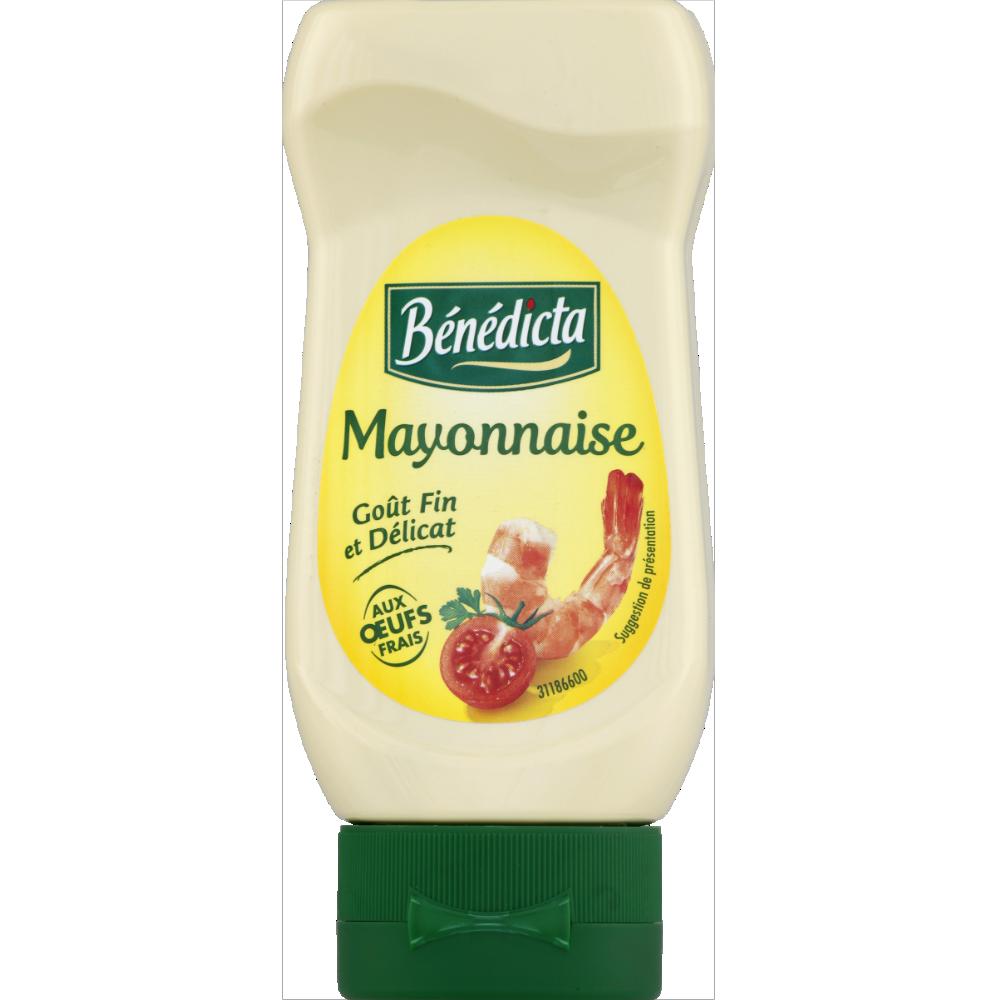Mayonnaise nature flacon souple, Benedicta (235 g)