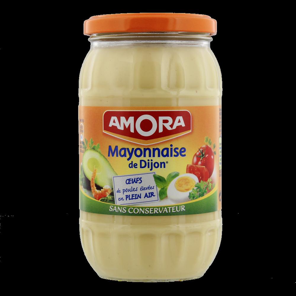 Mayonnaise nature sans conservateur, Amora (470 g)