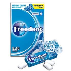 Chewing gum dragée Menthe forte, Freedent White (5 étuis de 10 dragées)