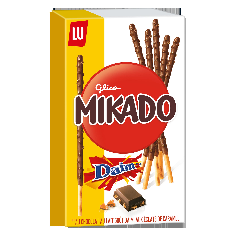 Mikado Chocolat aux éclats de Daim, Lu (70 g)