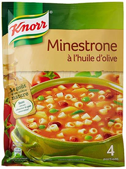 Minestrone huile d'olive déshydraté, Knorr (4 portions)