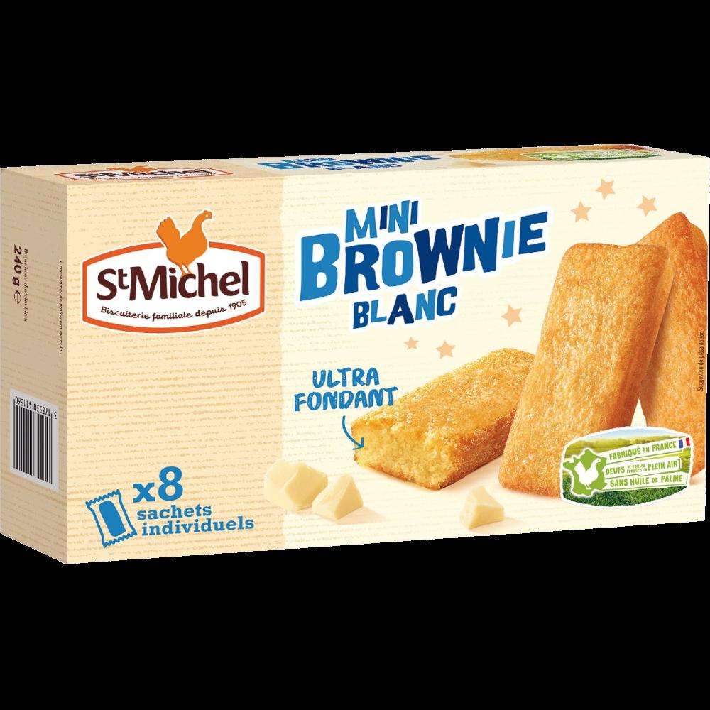 Mini brownie chocolat blanc, St Michel (240 g)