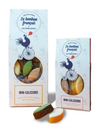 Mini calissons (traditionnel, choco-noisette, figues, mandarine), Le Bonbon Français (45 g)