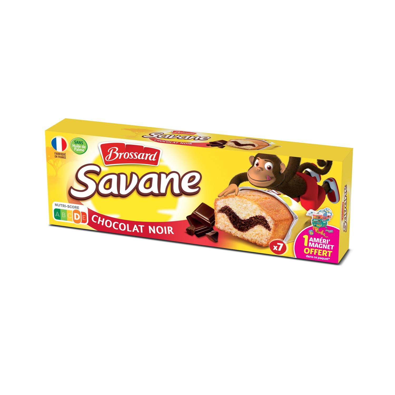 Mini Savane marbré chocolat noir, Brossard (7 x 27 g)
