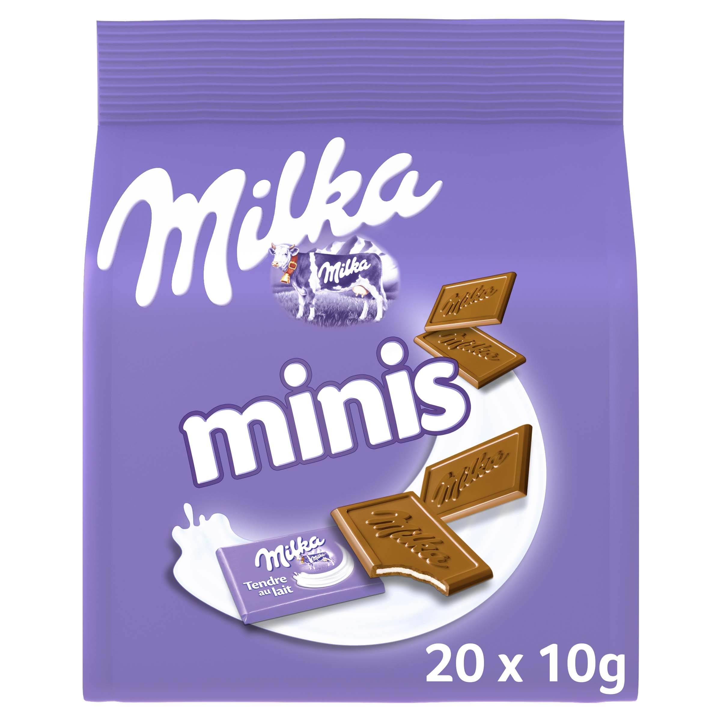 Mini tablette Milka au lait (20 x 10 g)