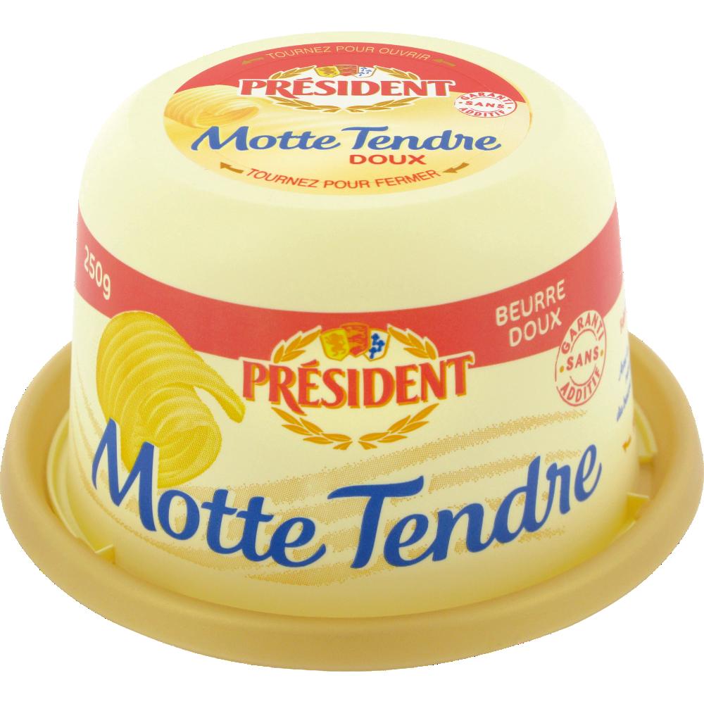 Beurre doux motte tendre, Président (250 g)