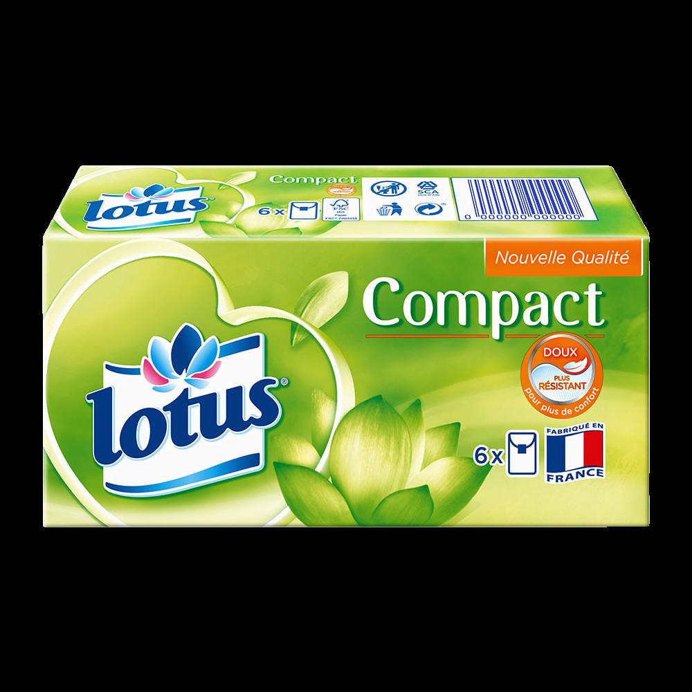 Etuis de mouchoirs compact, Lotus (x 6)