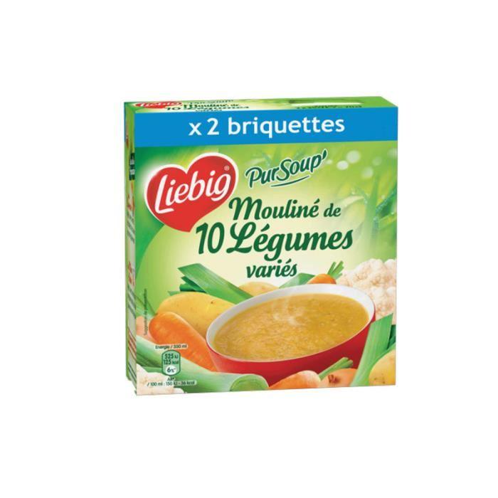 Mouliné de 10 légumes variés, Liebig (2 x 30 cl)
