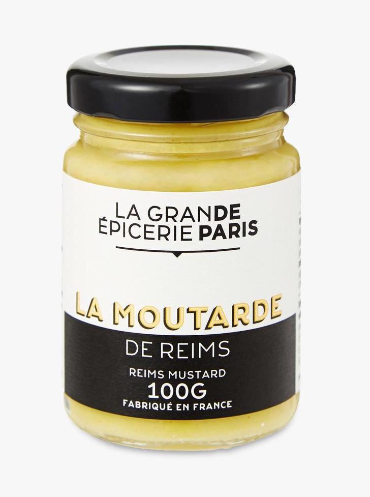 Moutarde de Reims au vin blanc et vinaigre de vin, La Grande Epicerie de Paris (100 g)