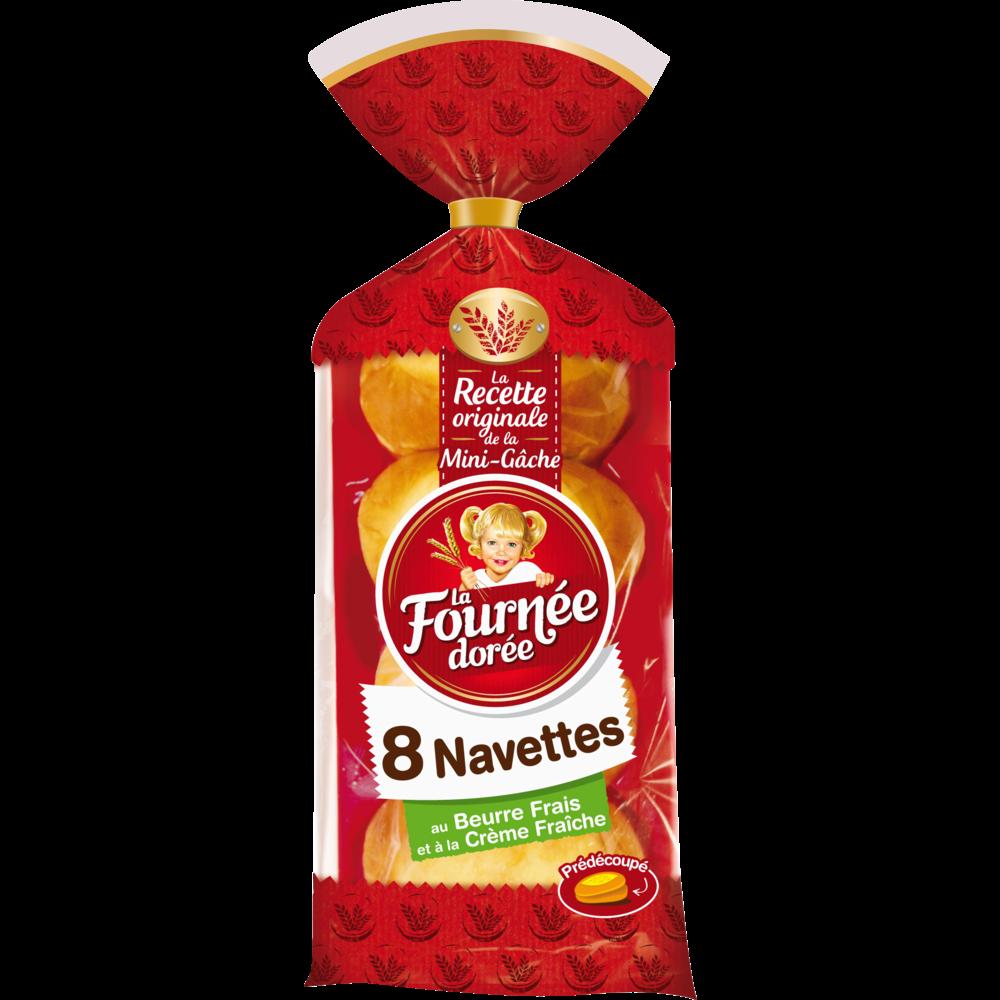 Navettes au beurre frais, La Fournée Dorée (x 8, 400 g)