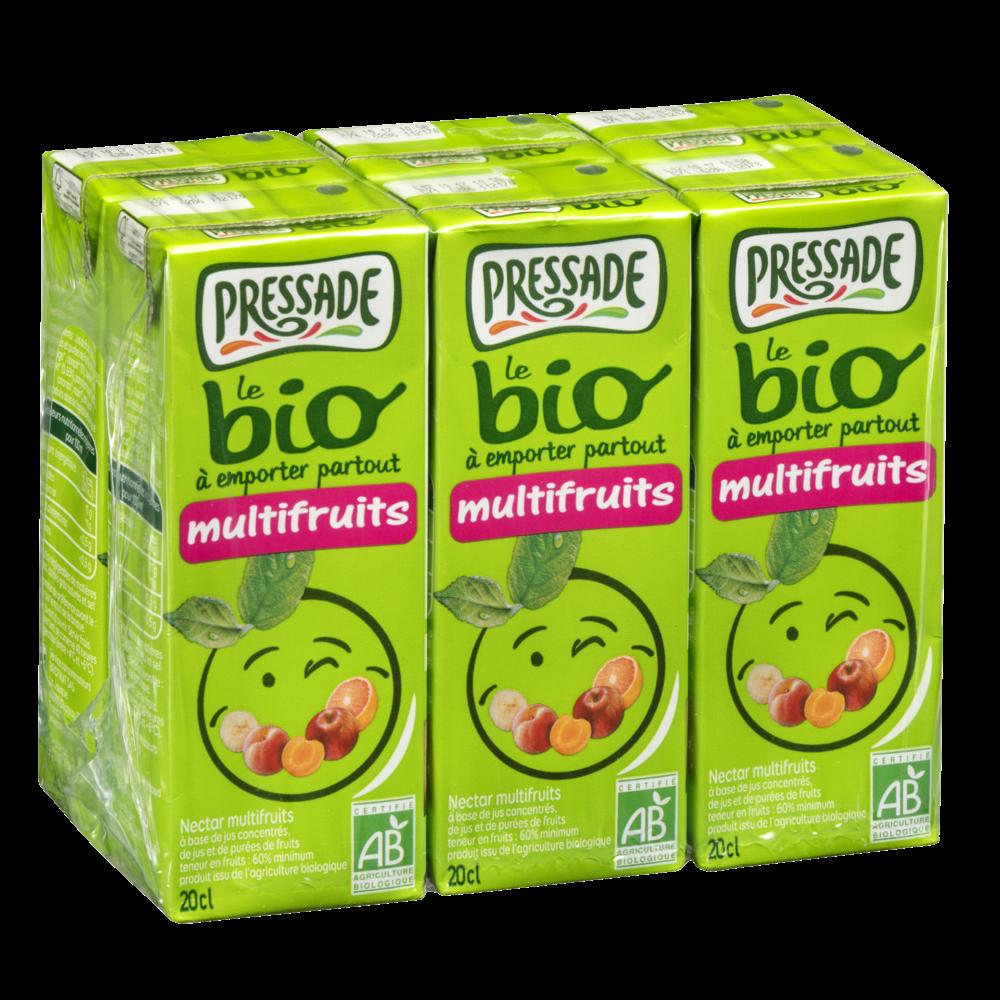 Pack Nectar multifruits BIO, Pressade (6 x 20 cl)