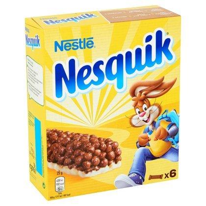 Barres de céréales Nesquik, Nestlé (6 x 25 g)