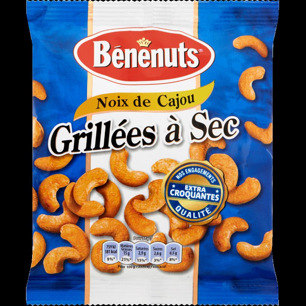 Noix de cajou grillées à sec, Bénénuts (165 g)
