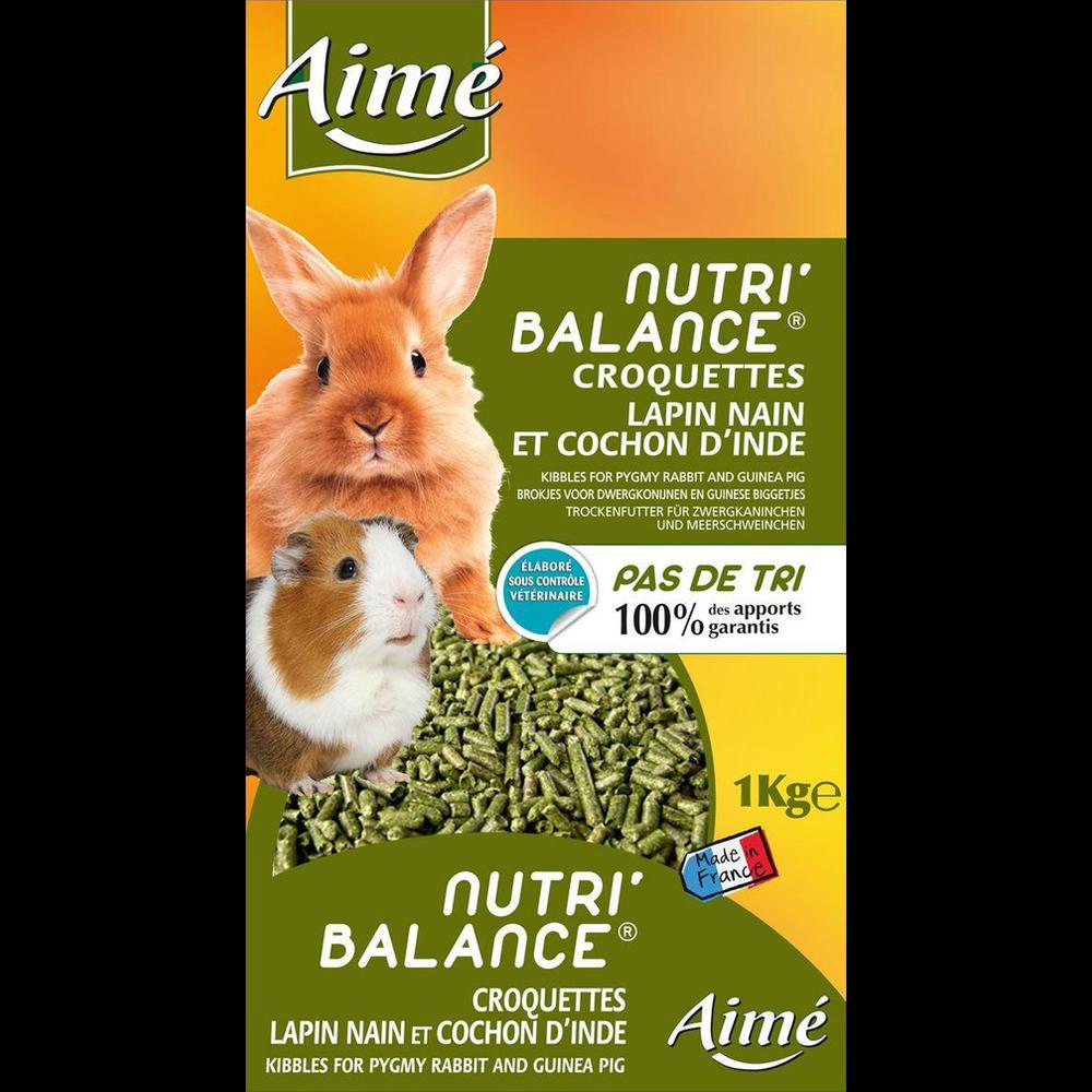 Croquettes pour lapin nain et cochon d'Inde, Aimé (1 kg)