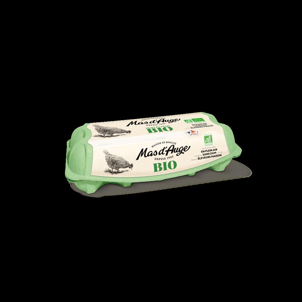 Oeufs sans OGM moyen/gros BIO, Mas d'Auge (x 10)