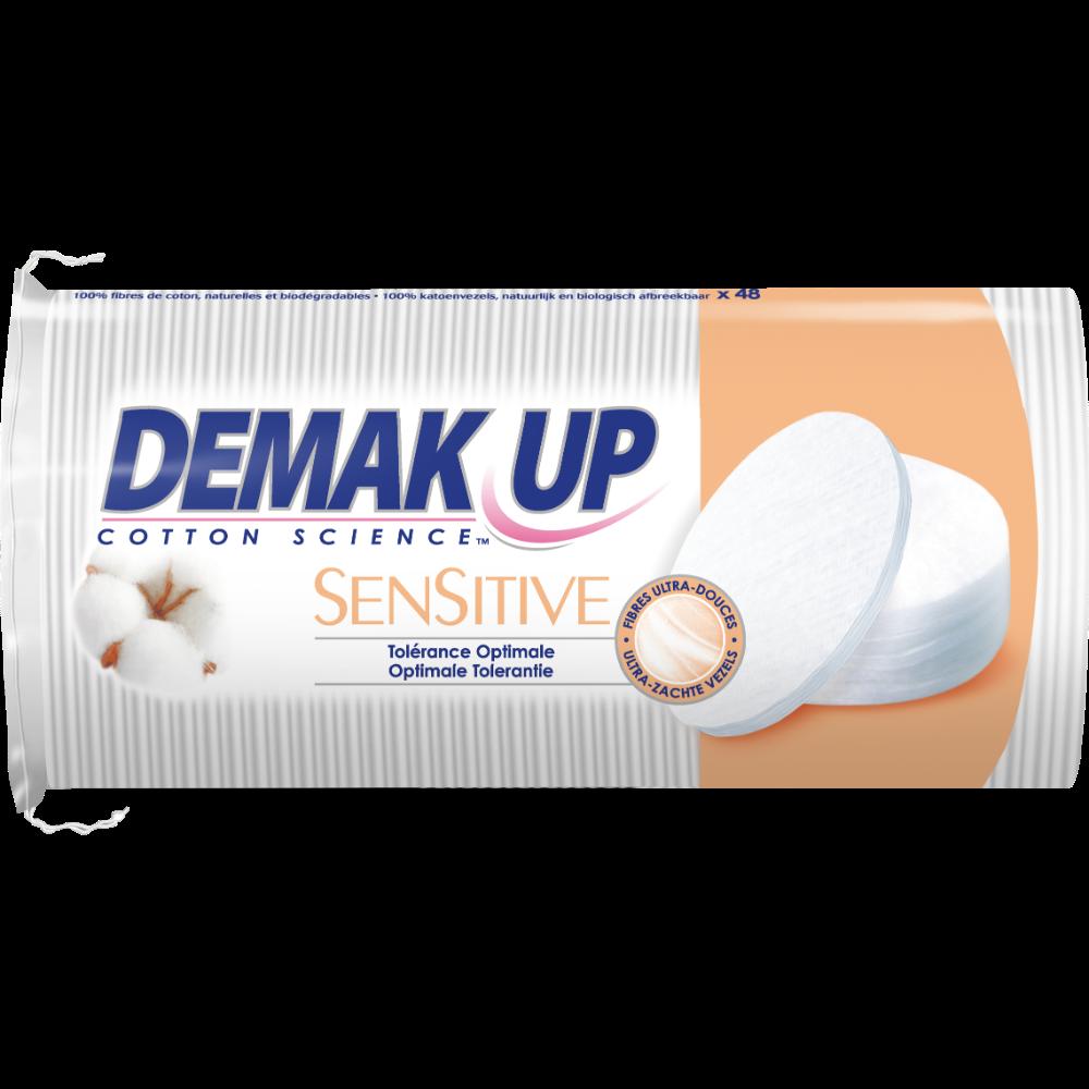 Coton ovales à démaquiller Sensitive, Demak'up (x 48)