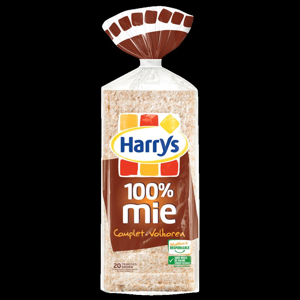 Pain de mie complet sans croûte 100% mie, Harry's (500 g)