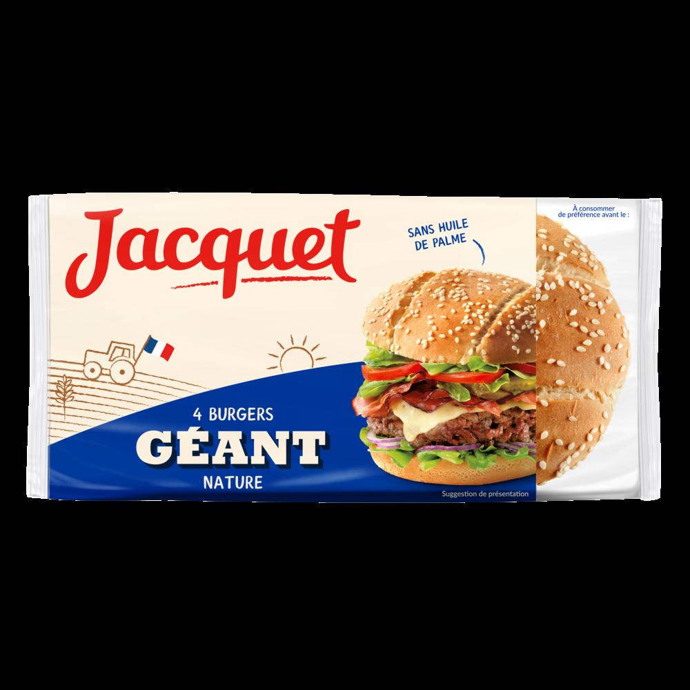 Pains hamburger géants nature, Jacquet (x 4, 330 g)