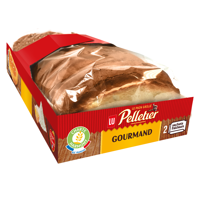 Pain grillé brioché Gourmand, Pelletier (300 g)