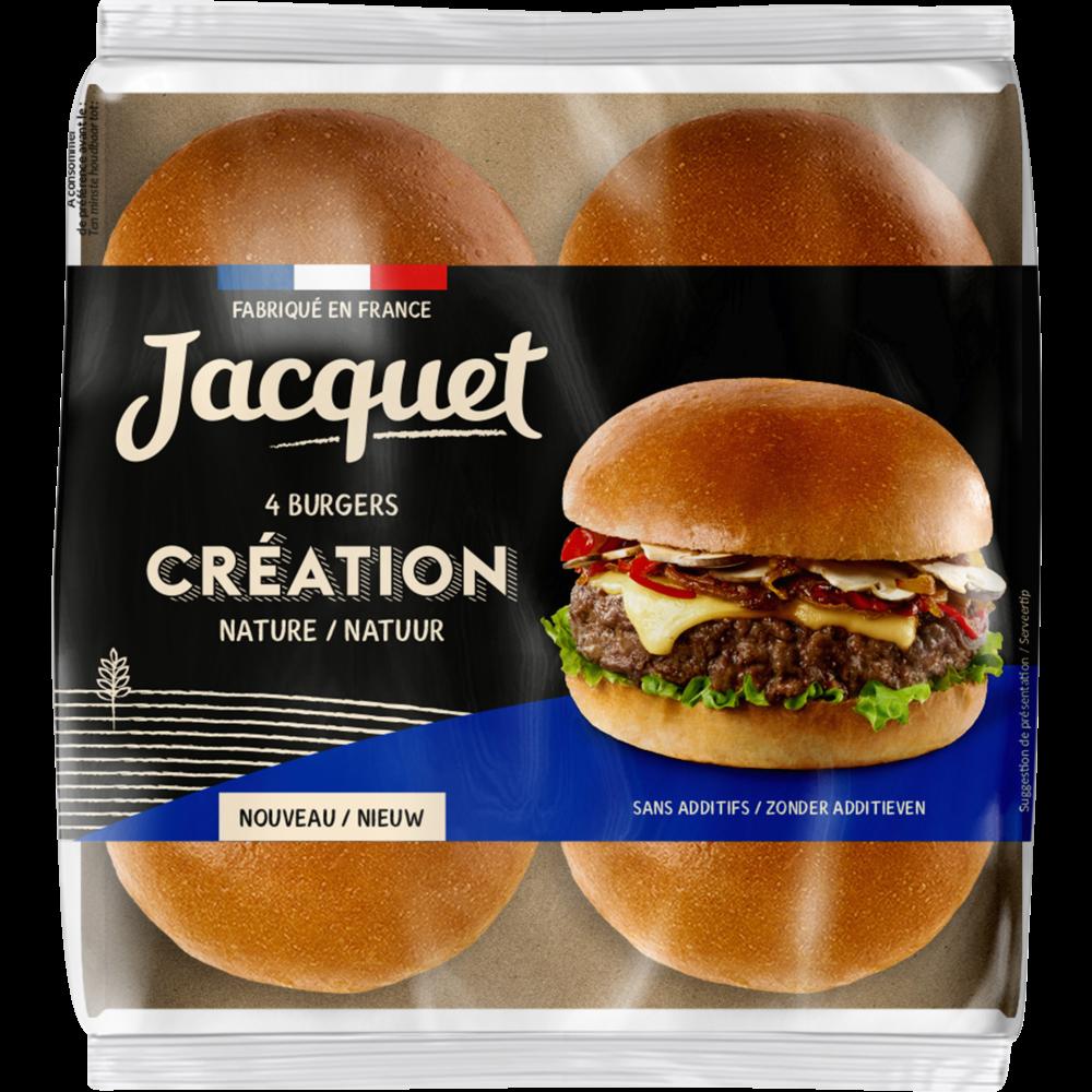 Pain pour hamburger création nature, Jacquet (x 4, 260 g)