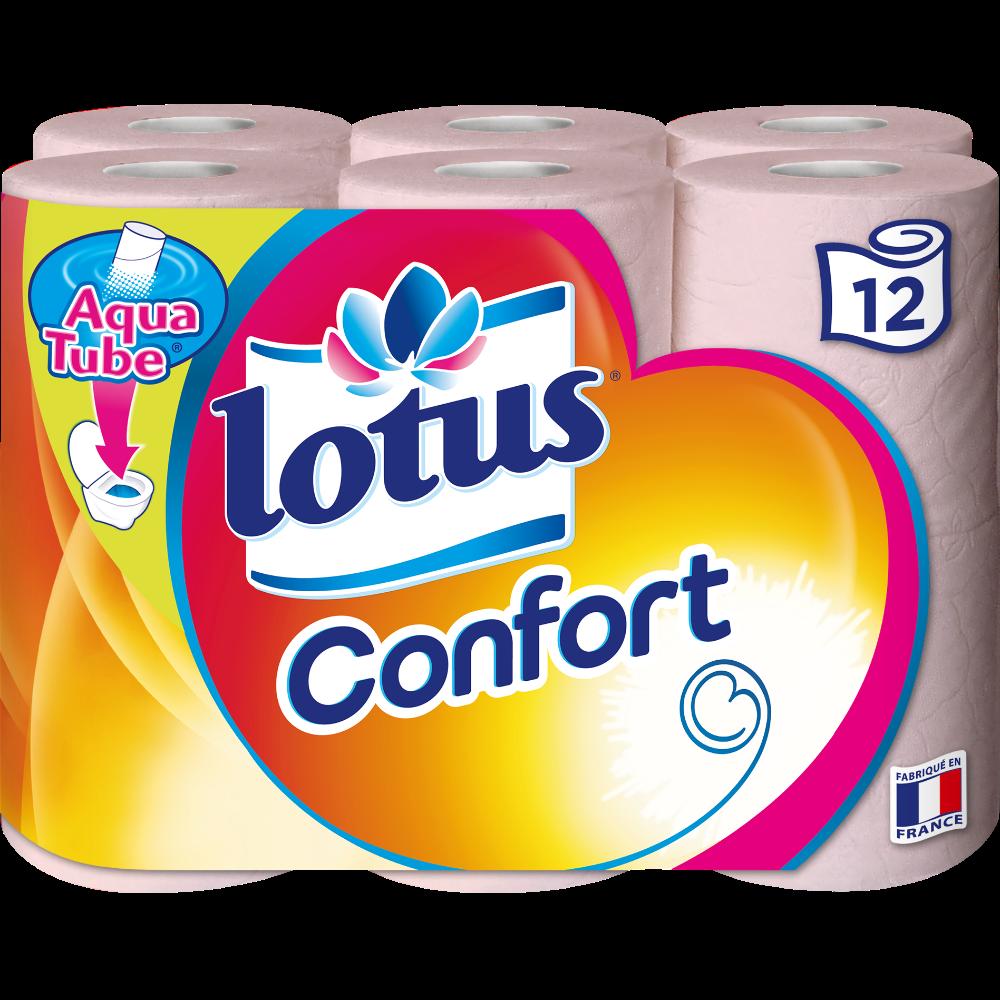 Papier toilette confort, Lotus (x 12)