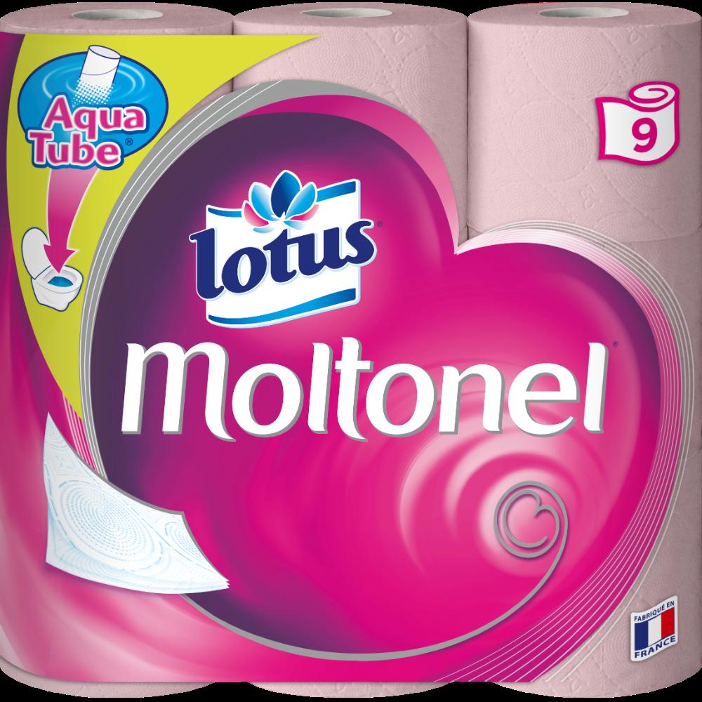 Papier toilette extrait de lotus aquatube, Moltonel (x 9)