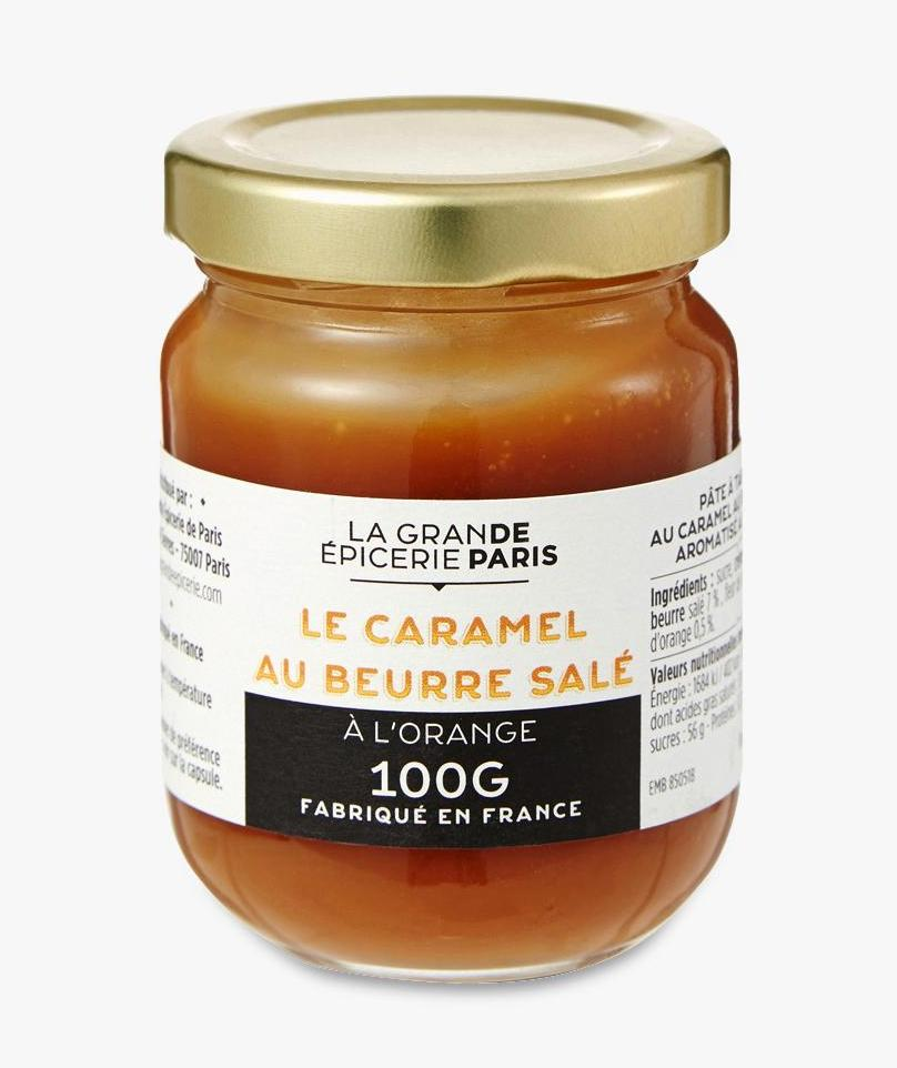 Pâte à tartiner au caramel au beurre salé aromatisé à l'orange, La Grande Epicerie de Paris (225 g)