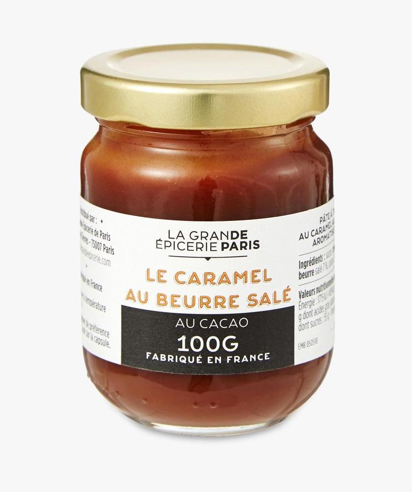 Pâte à tartiner au caramel au beurre salé aromatisé au cacao, La Grande Epicerie de Paris (100 g)