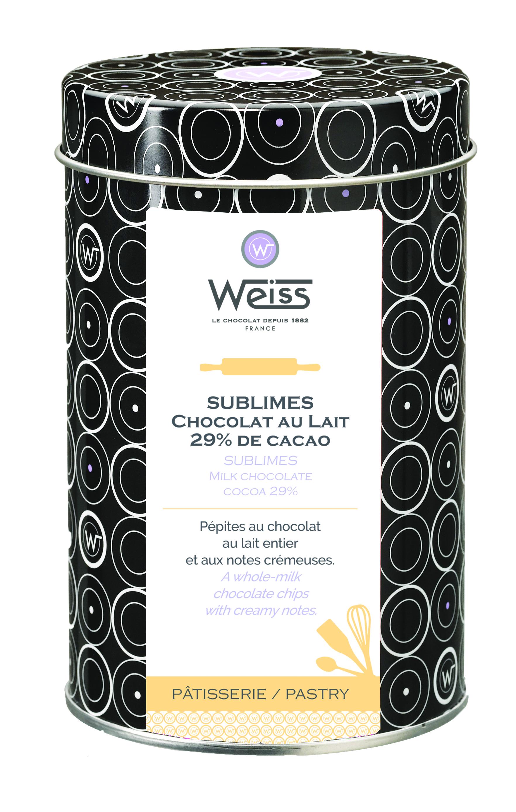 Pépites au chocolat au lait  29% de cacao, Weiss (400 g)