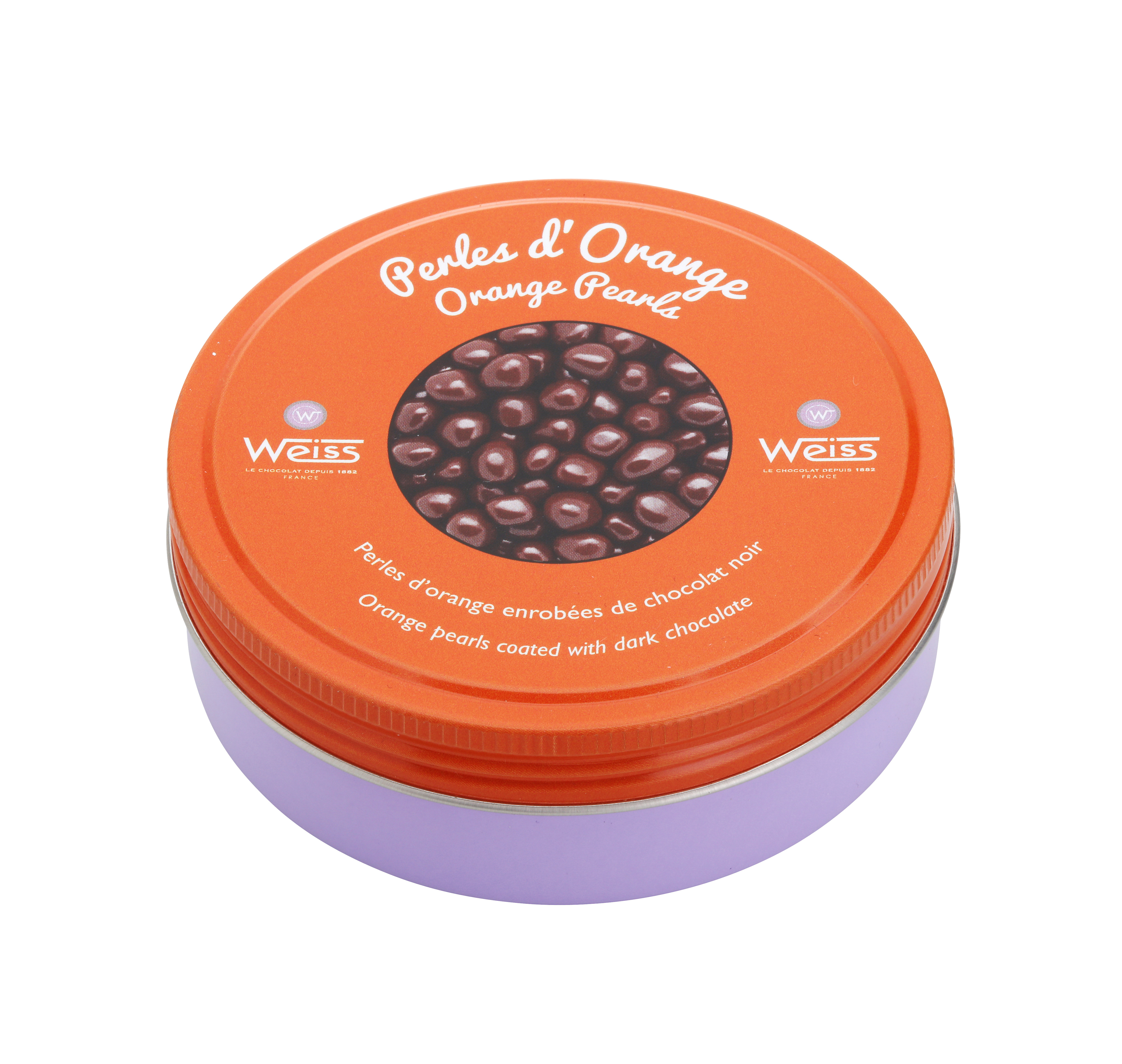 Perles d'orange au chocolat noir, Weiss (75 g)