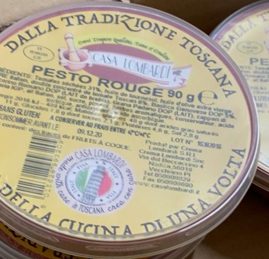 Pesto rosso/rouge, Casa Lombardi (90 g)