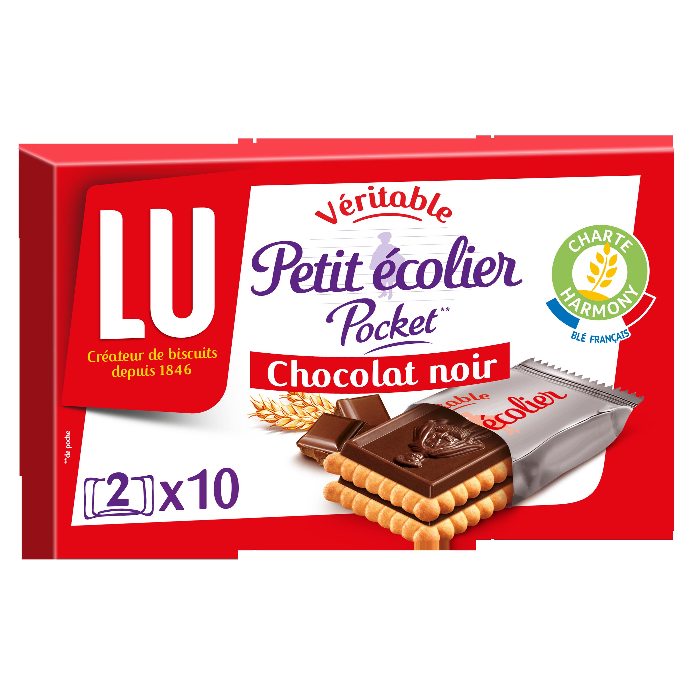 Petit écolier pocket Chocolat noir, Lu (250 g)