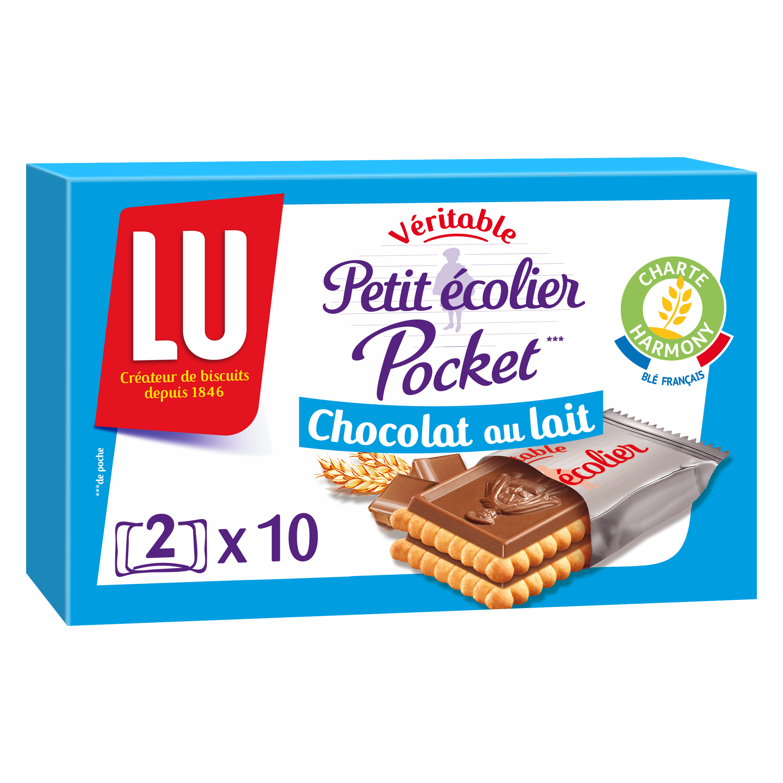 Petit écolier pocket Chocolat au lait, Lu (250 g)