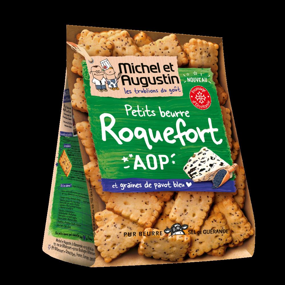 Petits beurres apéritif roquefort et graines de pavot bleu, Michel et Augustin (100 g)