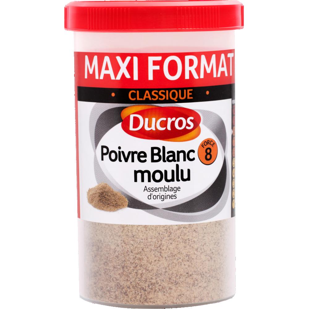 Poivre blanc moulu, Ducros (90 g)