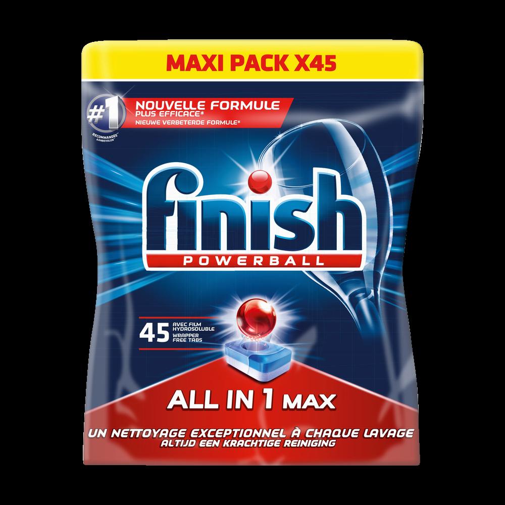 Tablettes pour lave-vaisselle Powerball tout en 1, Finish (x 45)