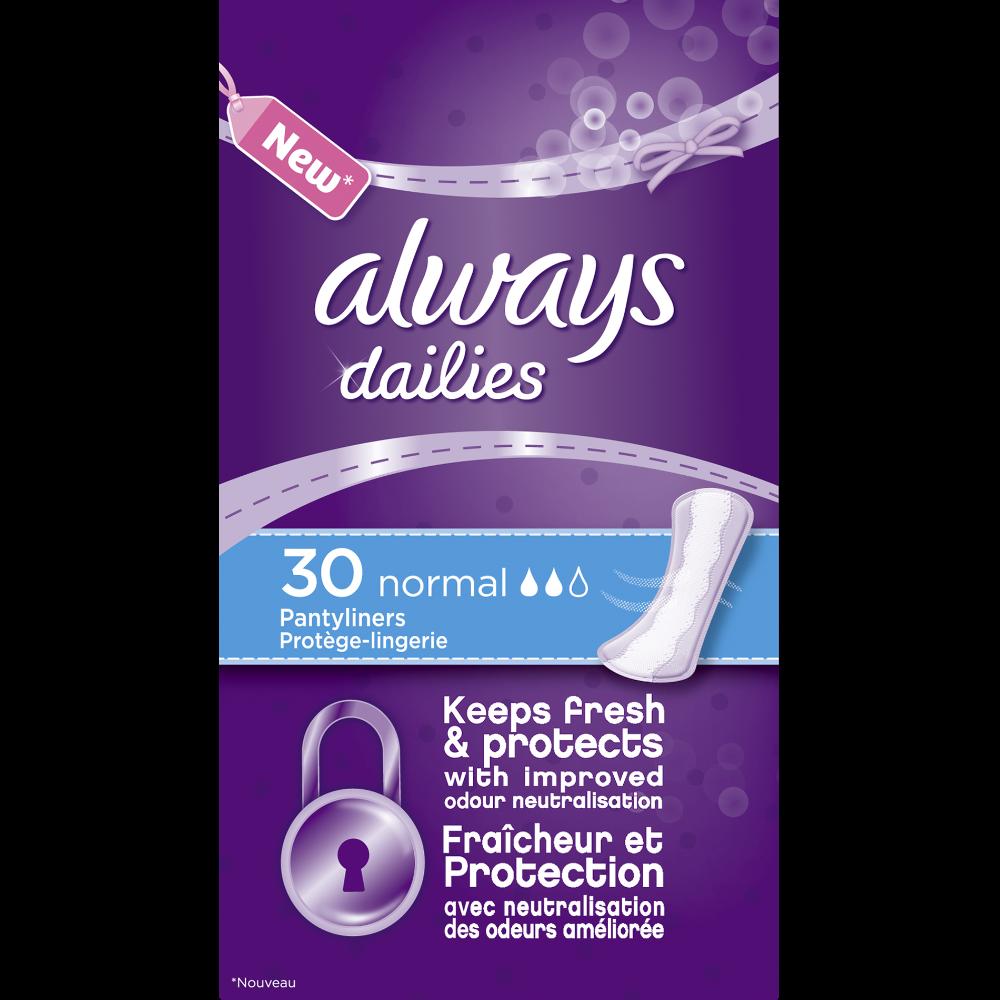 Protèges slip normal, Always (x 30)