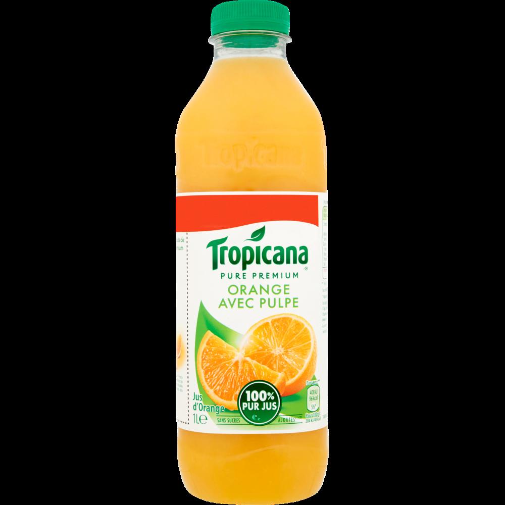 Jus d'orange Pure Premium avec pulpe, Tropicana (1 L)