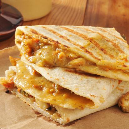 Quesadillas à la farine de blé de poulet fermier et cheddar  (x 3, 240 g)