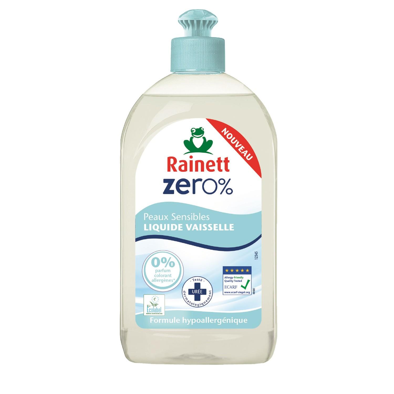 Liquide vaisselle 0% pour peaux sensible, Rainett (500 ml)