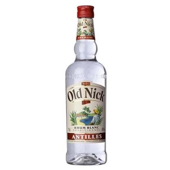 Rhum Old Nick 40° blanc (70 cl)