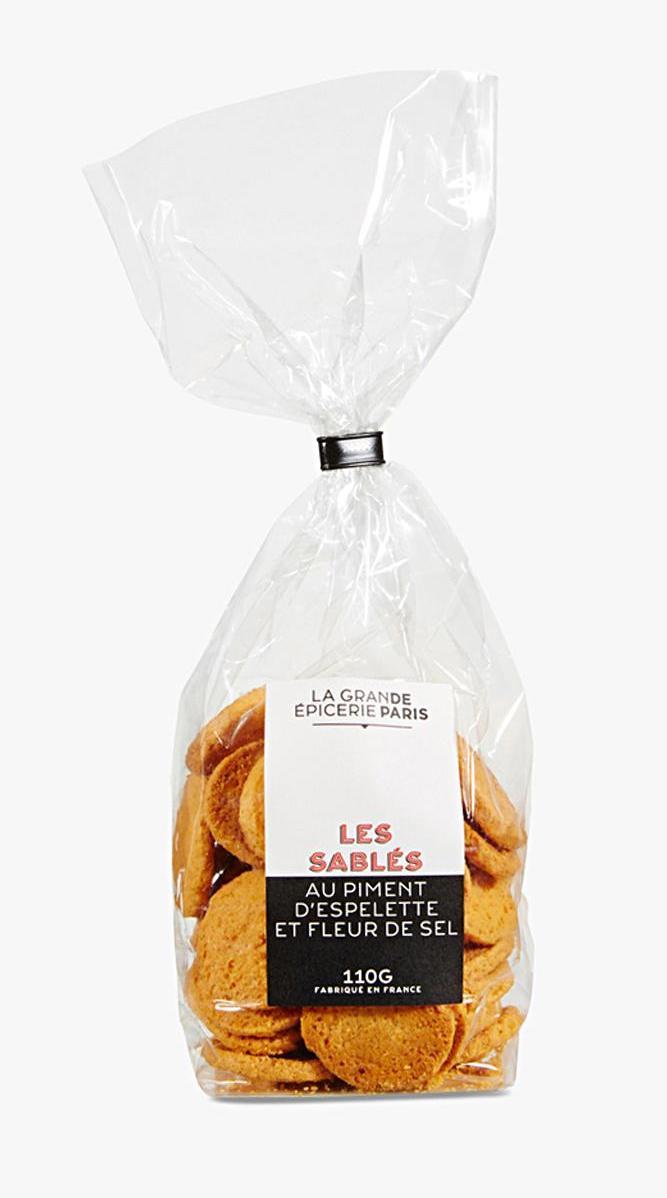 Sablés au piment d'Espelette et fleur de sel, La Grande Epicerie de Paris (110 g)