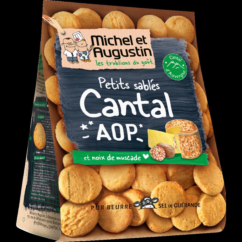 Sablés salés Cantal AOP et pointe de noix de muscade, Michel et Augustin (100 g)