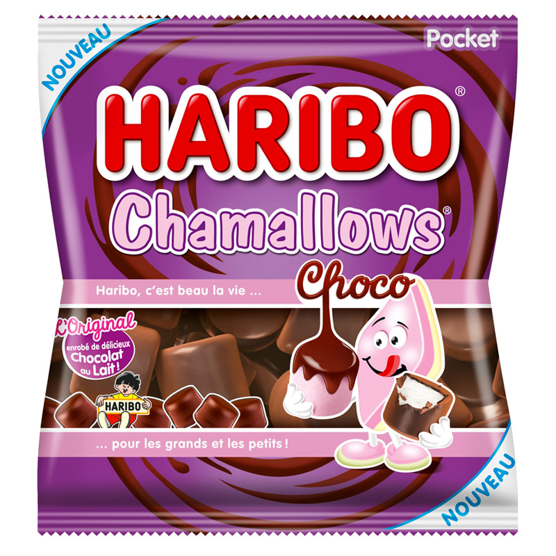Chamallows Chocolat Haribo (160 g)