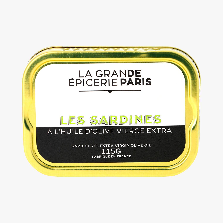Sardines à l'huile d'olive vierge extra, La Grande Epicerie de Paris (115 g)