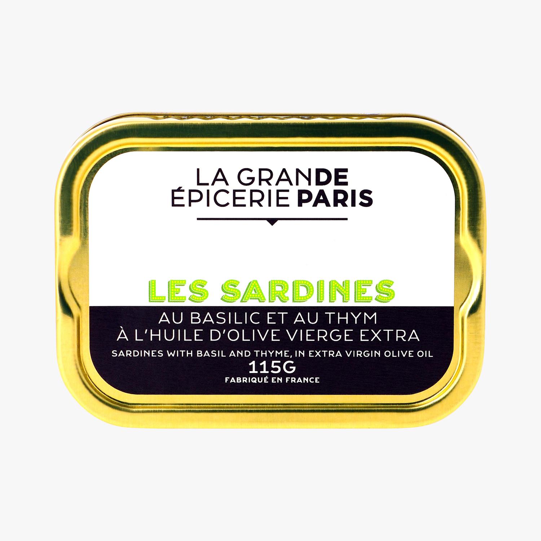 Sardines au basilic et au thym, La Grande Epicerie de Paris (115 g)